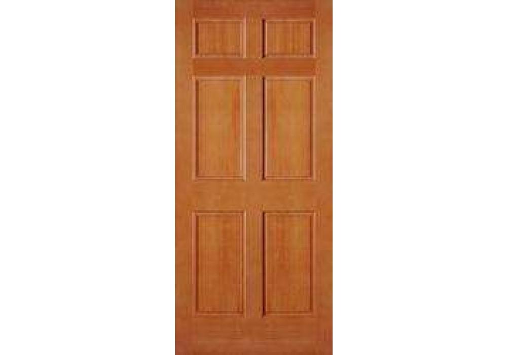Ab2130 Vertical Grain Douglas Fir Exterior 6 Panel Door 1 3 4