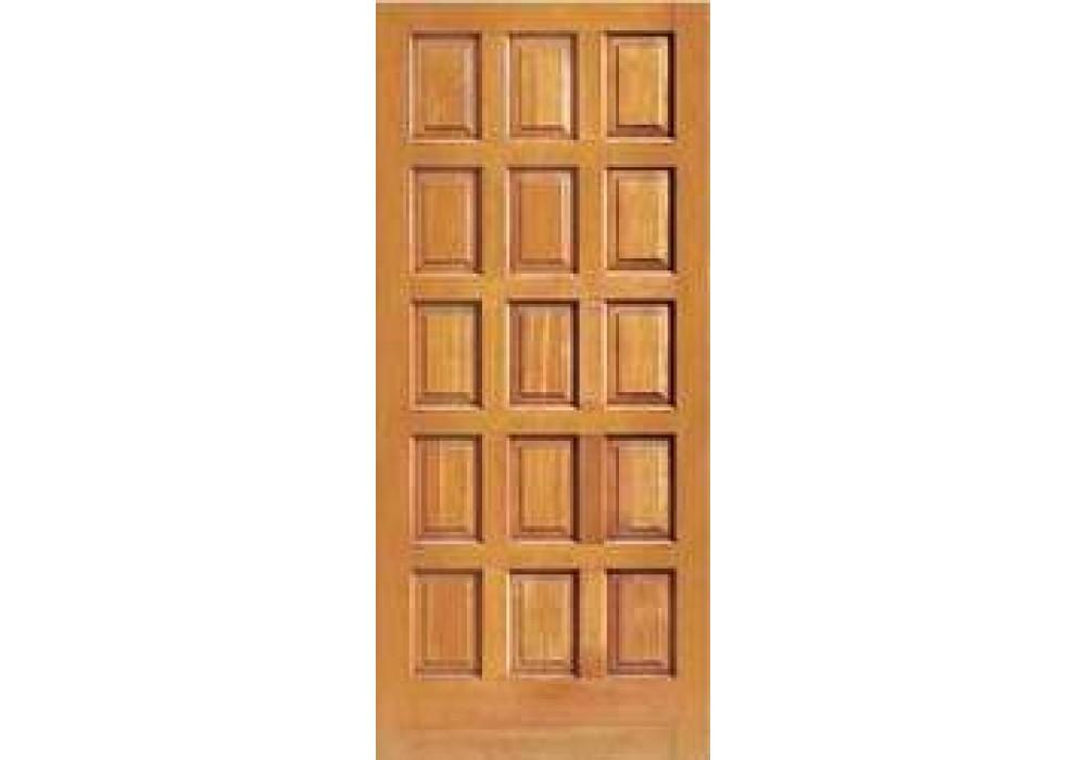 F1500 Vertical Grain Douglas Fir Exterior 15 Panel Doors 1 3 4