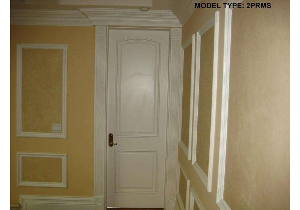 "ETO Doors 2 Panel Arched Top White Primed with Raised Molding 1-3//4/"" 2PRMS Slab"
