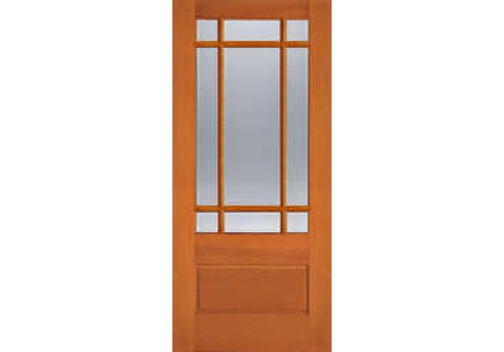 Ab7598 Vertical Grain Douglas Fir Exterior Marginal 9 Lite With 1 Panel Bottom Ab7598 1 3