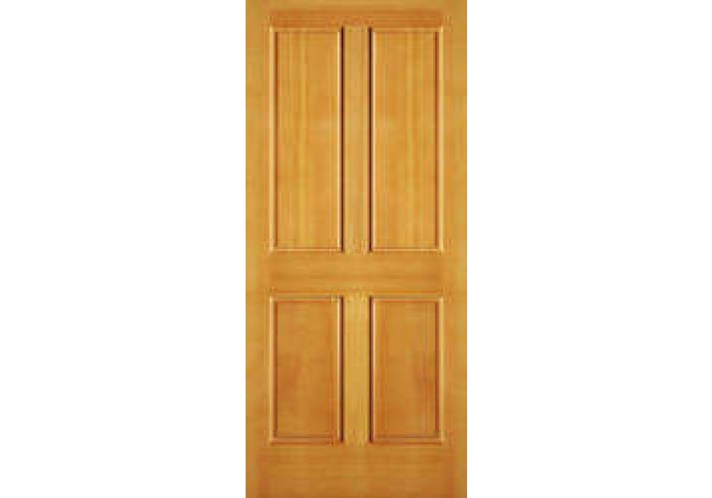 Ab2044 Vertical Grain Douglas Fir Exterior 4 Panel Door 1 3 4