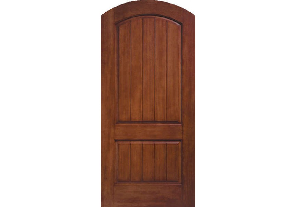 Ruby Therma Tru Rustic Two Panel Round, Round Top Doors