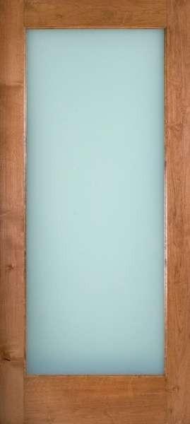 Knotty Alder 1 Lite Door W White Laminate Glass 1 3 4